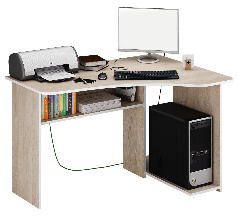 Компьютерный стол МФ Мастер Триан-1 120x90x75, дуб сонома