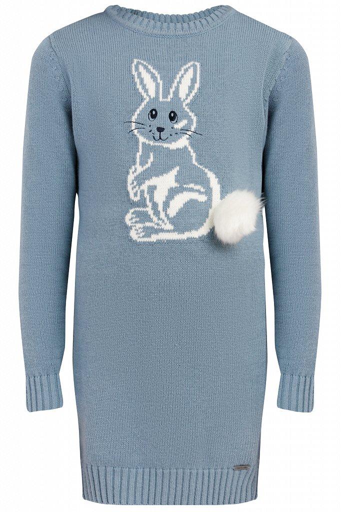 Купить KW19-71113, Платье для девочки Finn Flare, цв. синий, р-р. 152, Детские платья и сарафаны