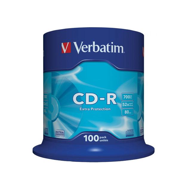 Диск CD R Verbatim 700Mb 52x (100