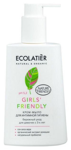 Крем мыло для интимной гигиены ECOLATIER Girls'