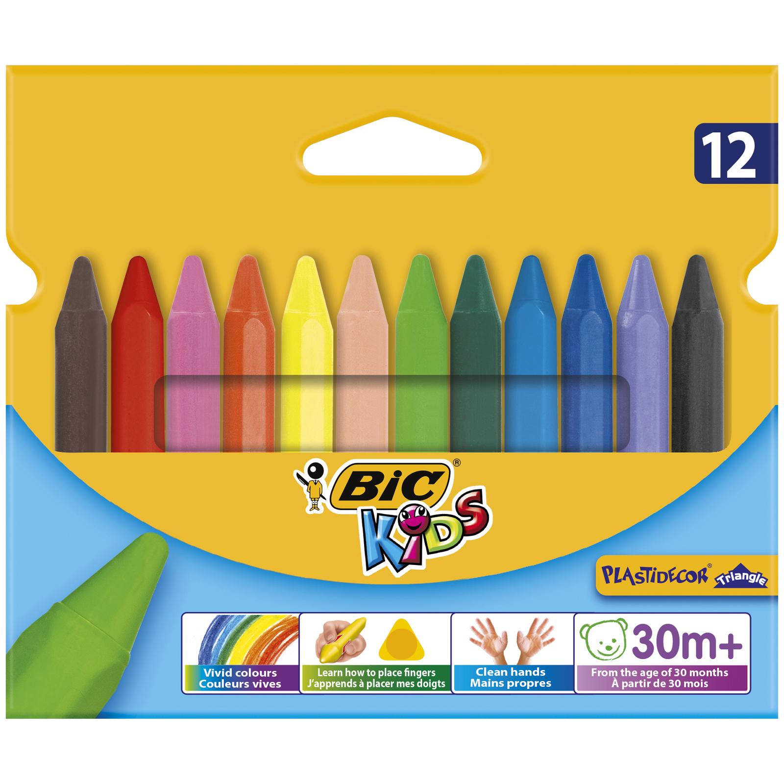 Мелки цветные BIC Kids Plastidecor Triangle Коробка