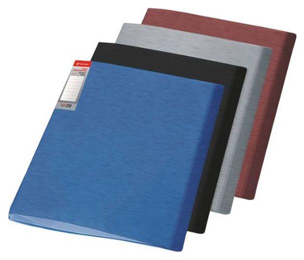Папка с файлами Panta Plast Simple А4, 40 файлов, плотность 650 мкр, Бордовый