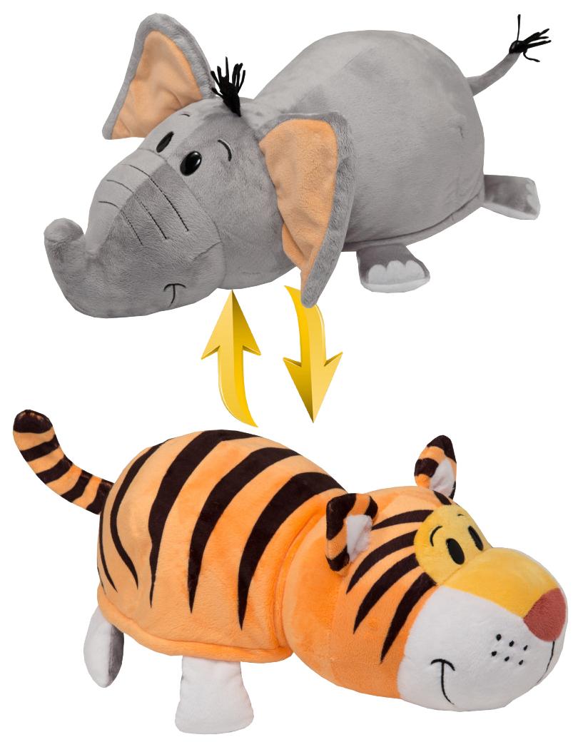 Игрушка-вывернушка 1 TOY Тигр-Слон 40 см