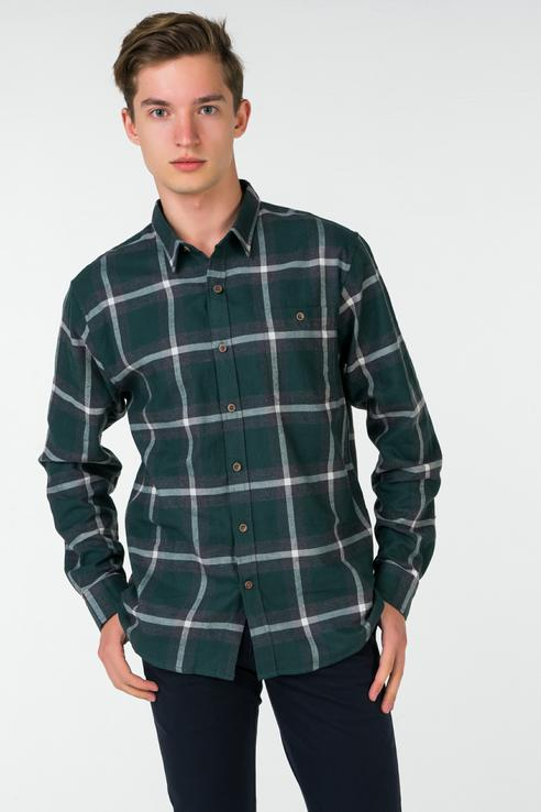 Рубашка мужская Dockers 5694000020 зеленая XL