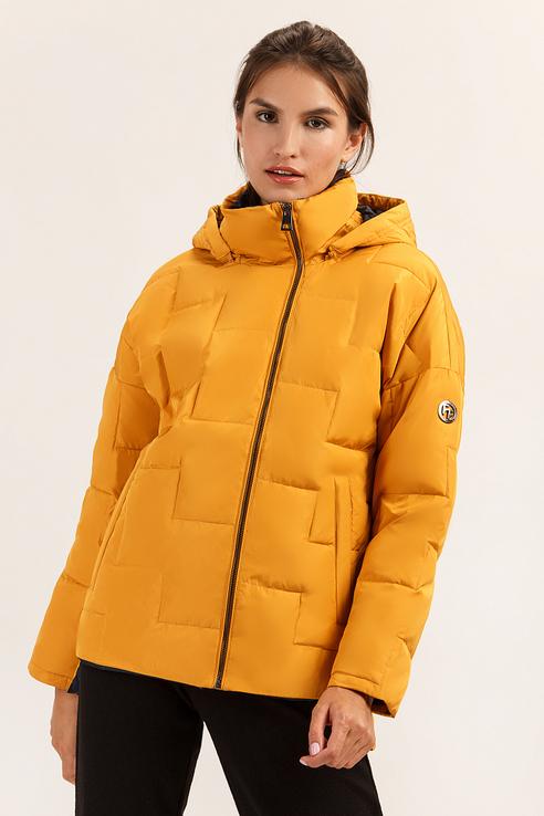 Куртка женская Finn Flare A19-32004 желтая XS фото