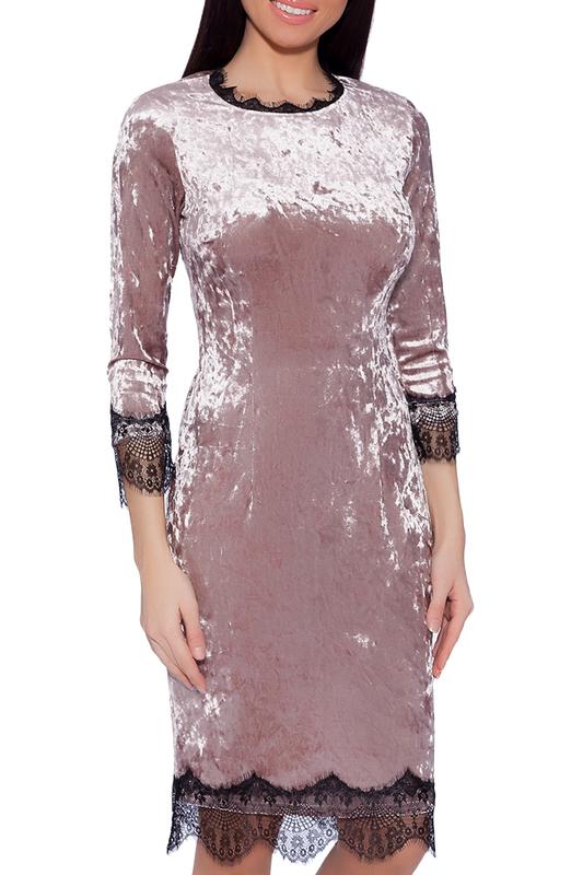 Платье женское EMANSIPE 3516714 бежевое 52 RU фото