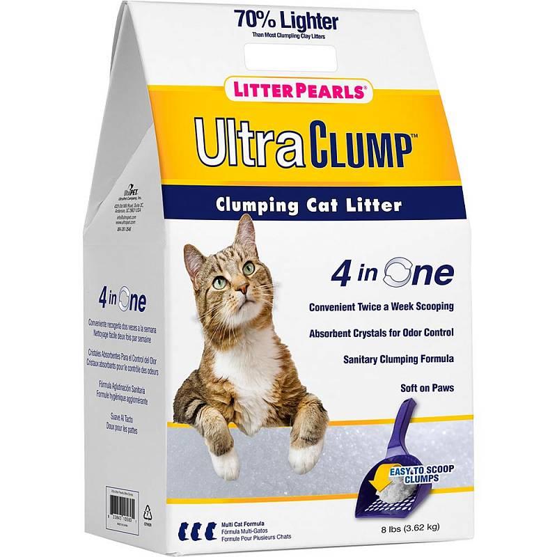 Комкующийся наполнитель для кошек Litter Pearls силикагелевый,
