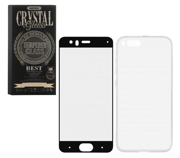 Универсальный чехол для Xiaomi Mi 6 Remax GL-08 Crystal Glass Full Black