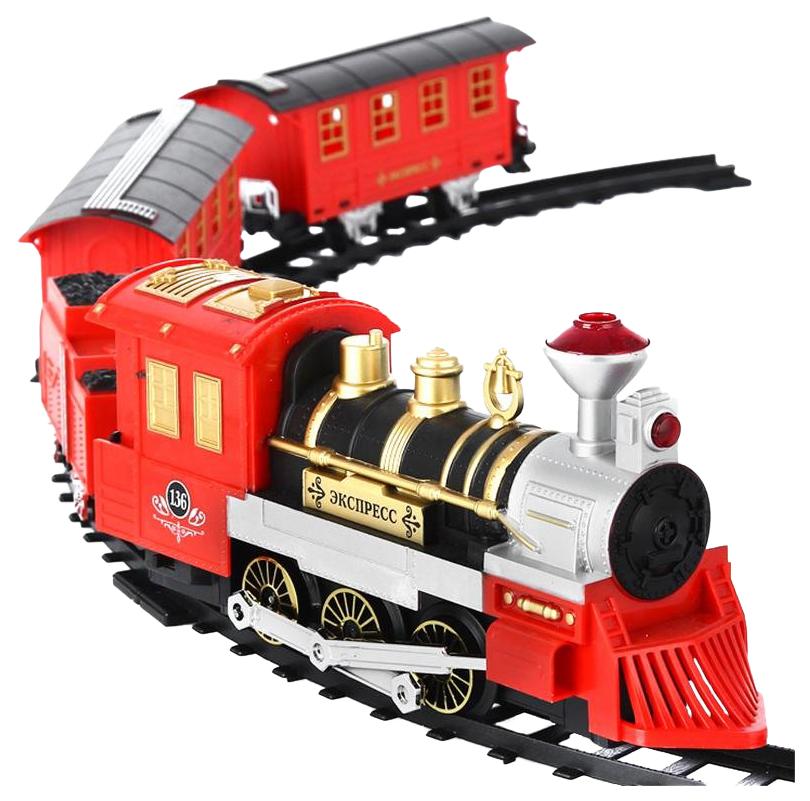 Купить Железная дорога Play Smart 0638 Железная дорога 1889 с дымом свет звук 380 см, Hasbro, Детские железные дороги