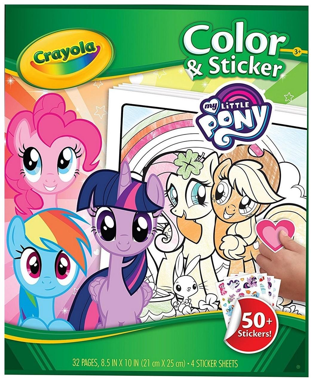 Книга-раскраска с наклейками Crayola «Моя маленькая Пони»