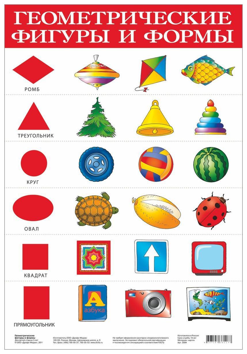 Плакат Дрофа-Медиа Геометрические Фигуры и Формы 2094