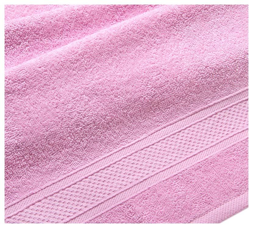 Полотенце махровое с бордюром (светло розовое) 70х140