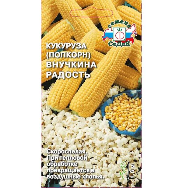 Семена Кукуруза попкорн Внучкина радость, 5