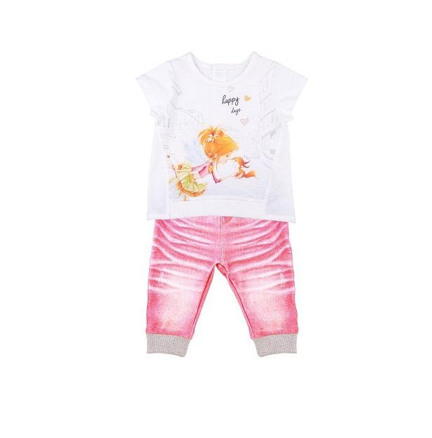 Комплект 2 пр. Папитто для девочки Fashion Jeans 523-04 р.24-80