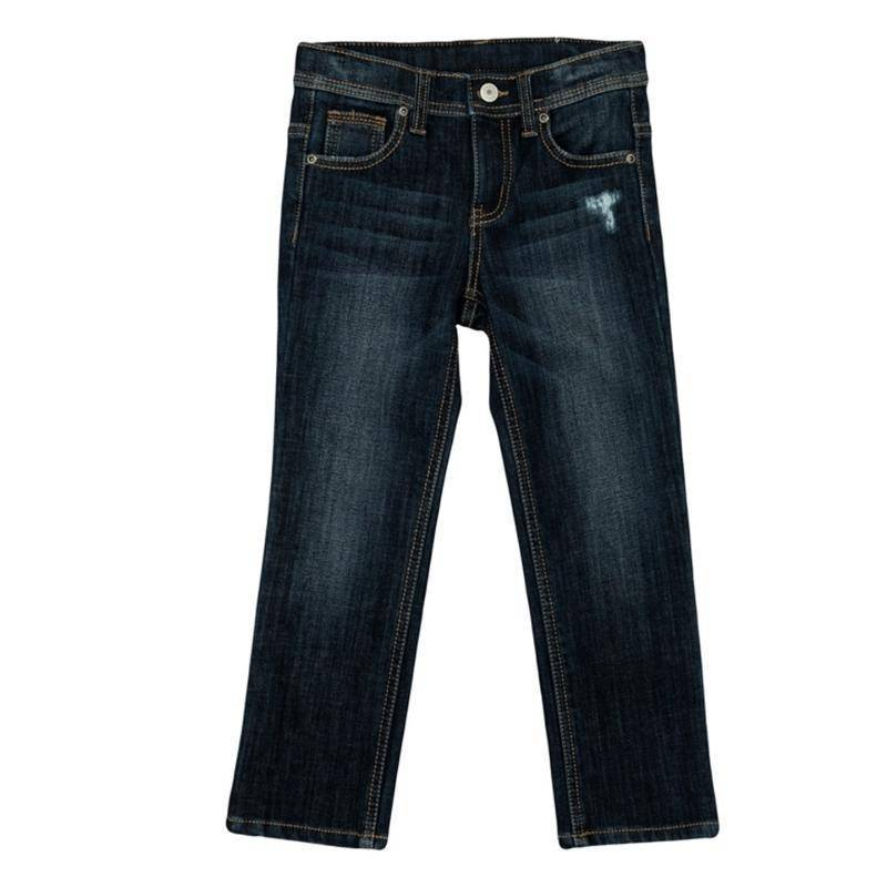 Купить Брюки текстильные джинсовые для мальчиков(98), 361115 синий деним EAN 4690244741119, Play Today, Детские джинсы