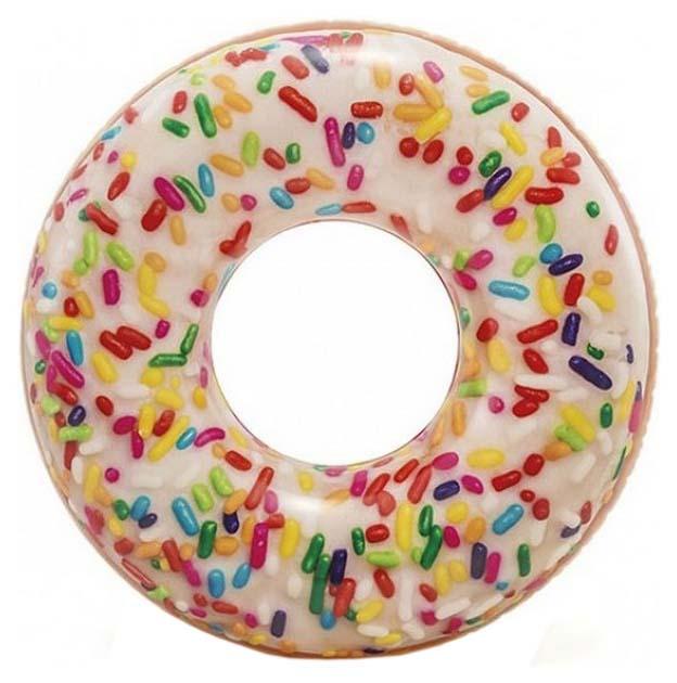 Круг для купания Intex Donut конфетный