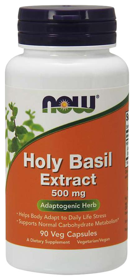 Купить Для нервной системы NOW Holy Basil Extract 500 мг 90 капсул