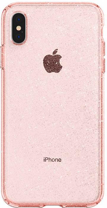 Чехол Spigen Liquid Crystal Glitter (065CS25124) для iPhone Xs Max (Rose Quartz)