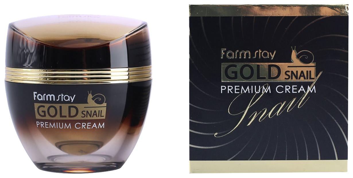Купить Крем для лица FarmStay Премиальный с золотом и муцином улитки