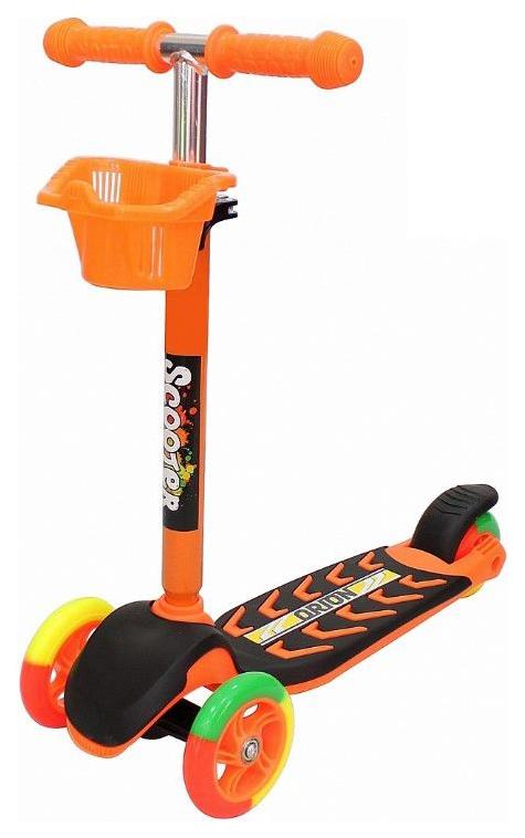 Купить Самокат RT MIDI ORION оранжевый, R-TOYS, Самокаты детские трехколесные