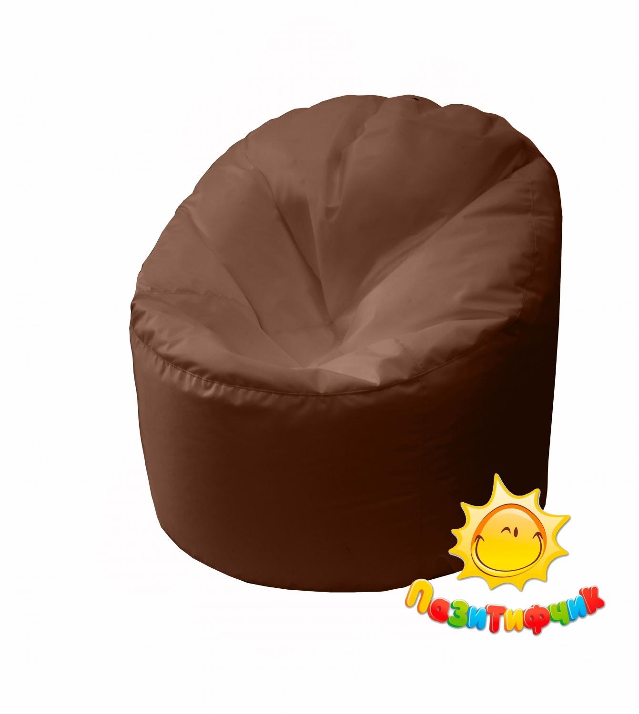 Кресло-мешок Pazitif Пенек Пазитифчик, размер L, оксфорд, коричневый фото