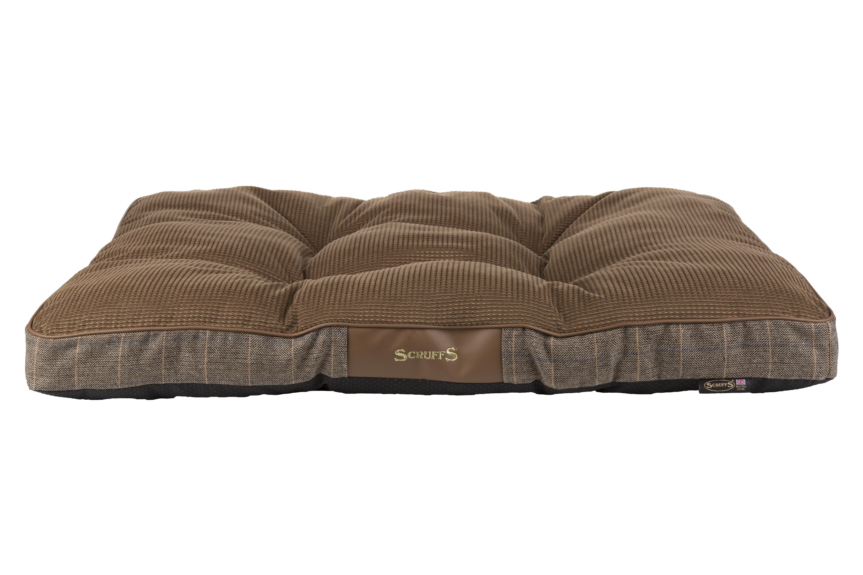 Матрас для собак Scruffs Windsor, коричневый, 100 x 70 х 7,5 см фото