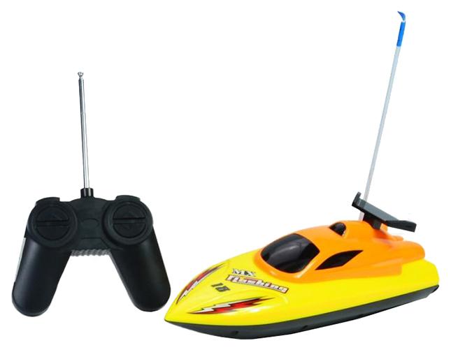 Купить Катер на радиоуправлении Mioshi Tech Скорость-X24 24 см желтый, Радиоуправляемые катера