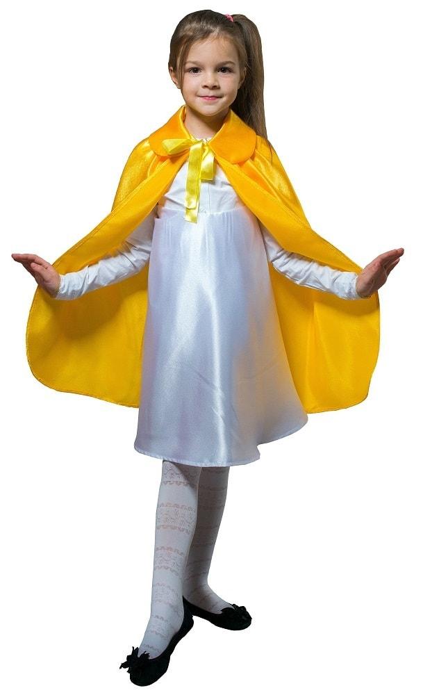 Купить Плащ желтый длинный с воротником детский Птица Феникс p1038,