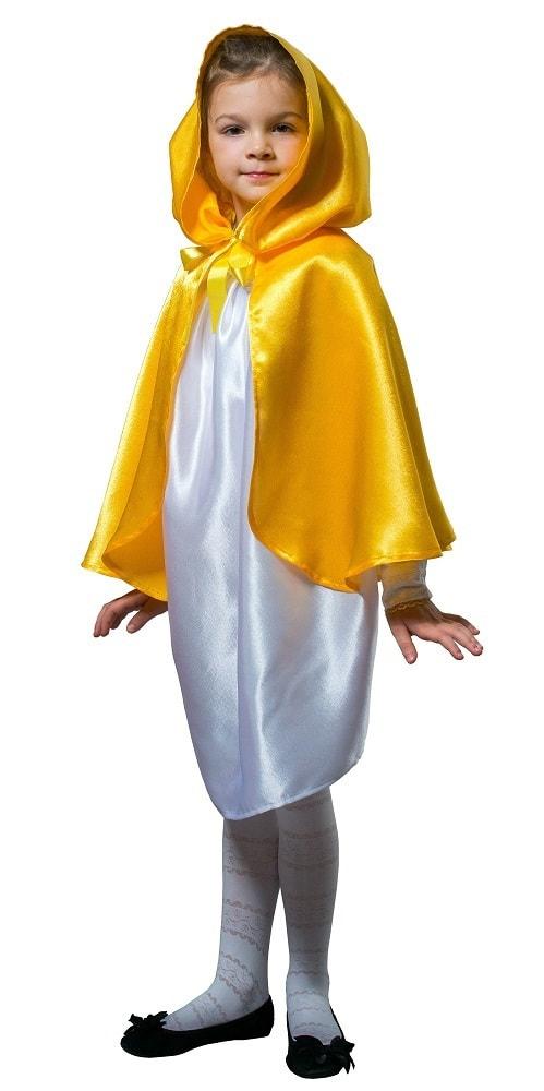 Купить Плащ желтый короткий с капюшоном детский Птица Феникс p1028,