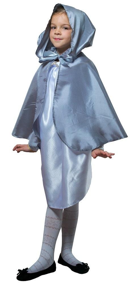 Купить Плащ серебристый короткий с капюшоном детский Птица Феникс p1026,
