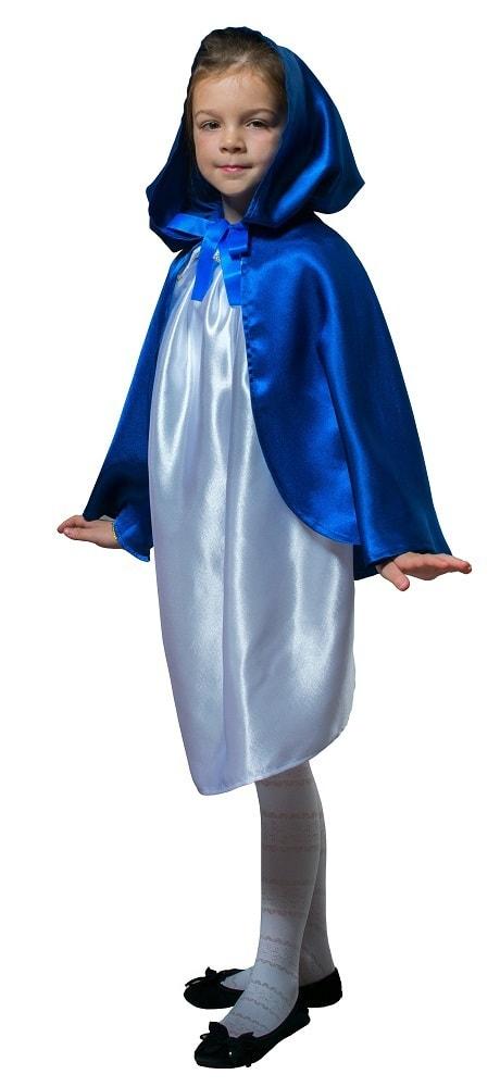 Купить Плащ синий короткий с капюшоном детский Птица Феникс p1025,