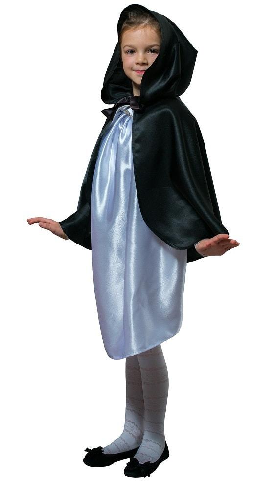 Купить Плащ черный короткий с капюшоном детский Птица Феникс p1030,