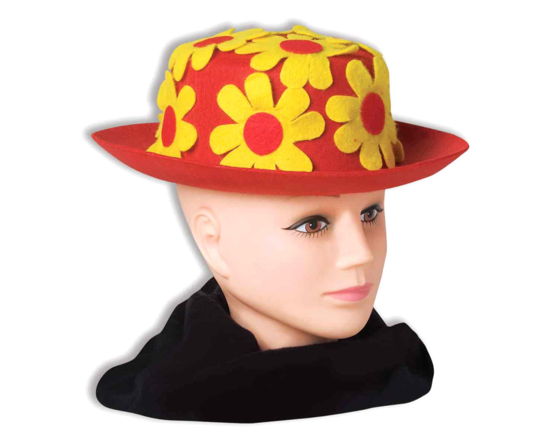 Купить Шляпа клоунская с цветами красная взрослая Forum Novelties f65599,