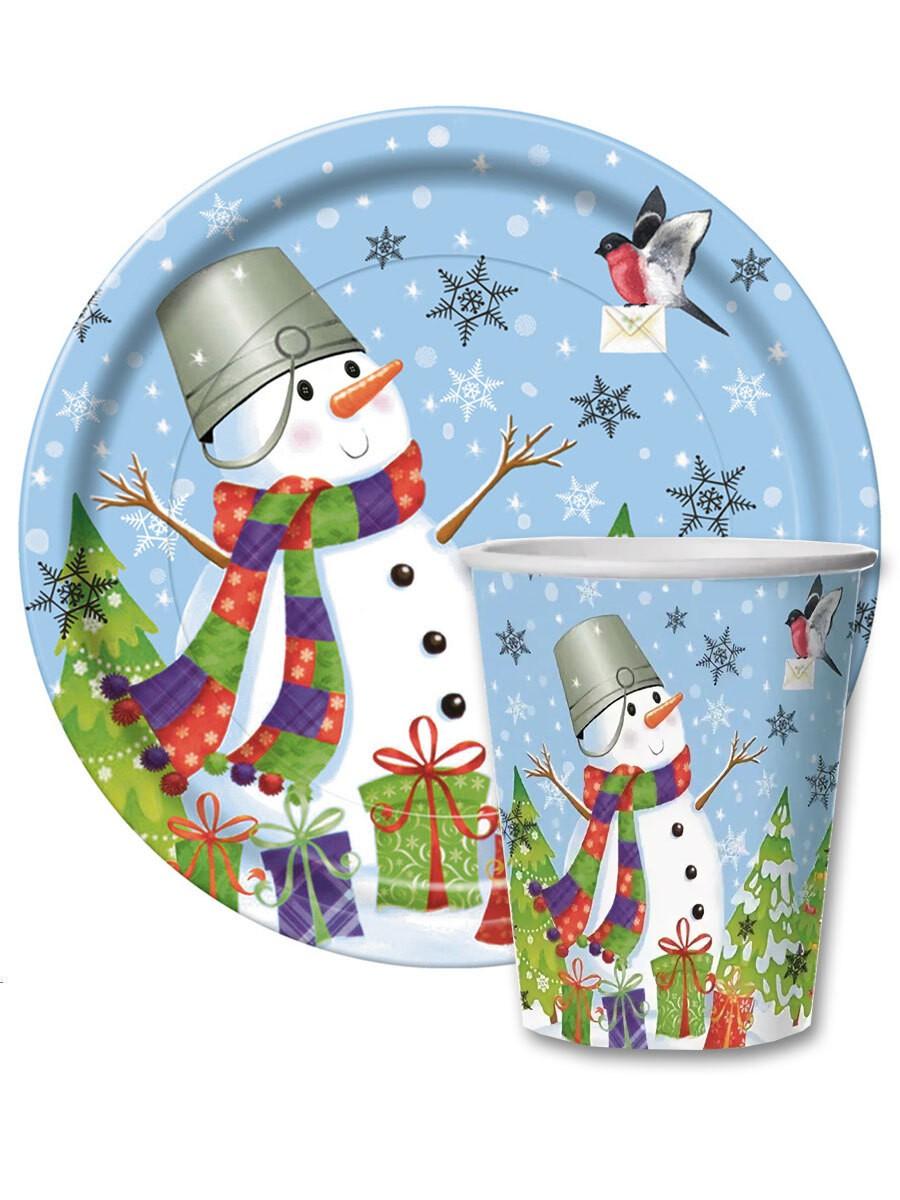 Набор новогодней одноразовой посуды