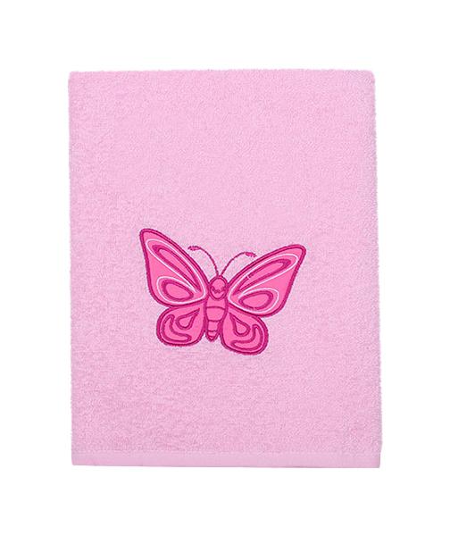 Купить Полотенце Kidboo Бабочка 70x100 розовое,
