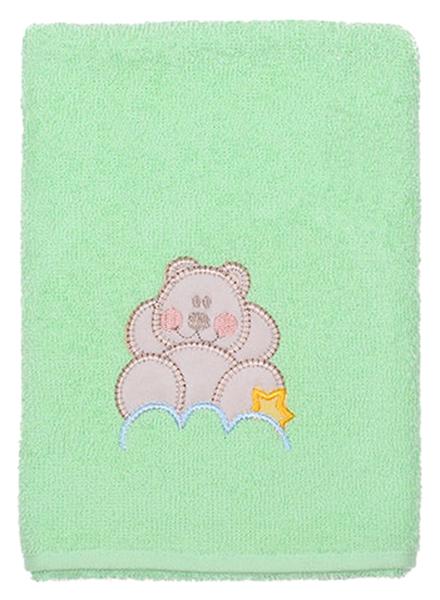 Купить Полотенце Kidboo Мишка на облаке 40x70 зеленое,