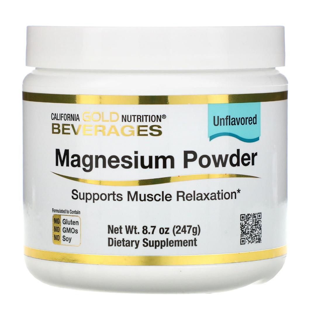 Купить Magnesium Powder Unflavored California Gold Nutrition 247 г
