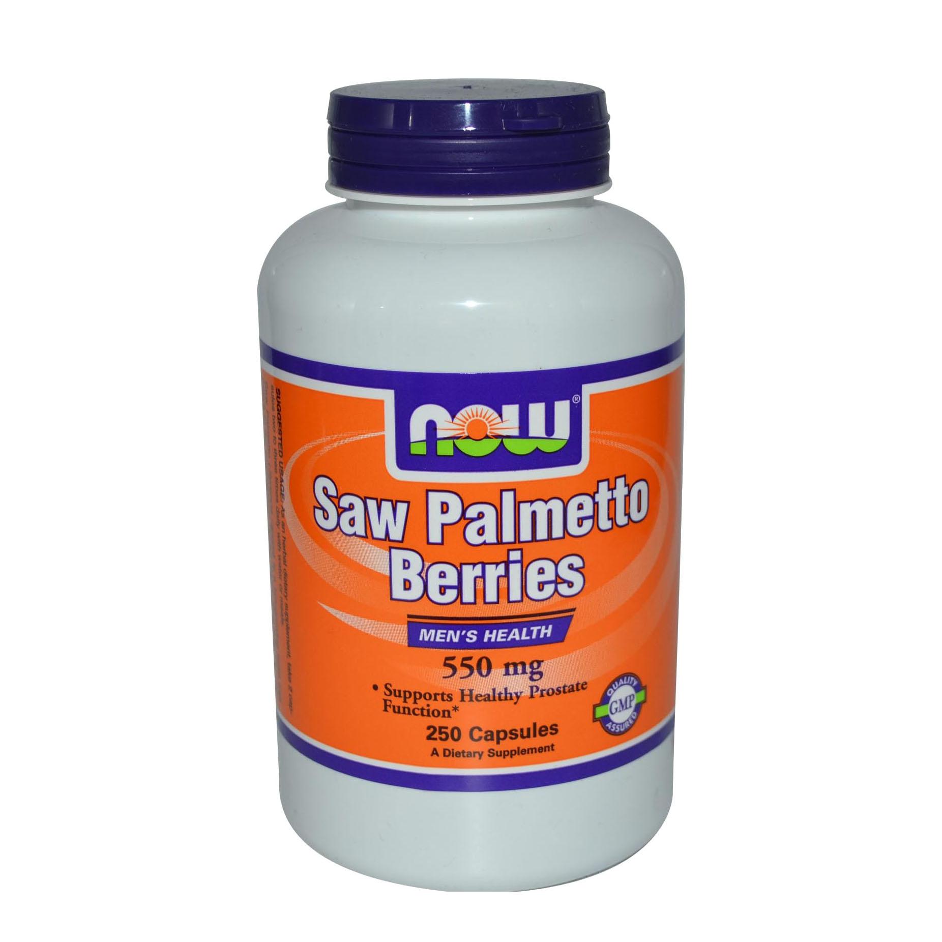 Купить Добавка для здоровья NOW Saw Palmetto Berries (550 мг) 250 капс.