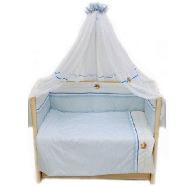 Купить Комплект в кроватку L'Abeille Пиратик салатовый, 7 предметов,