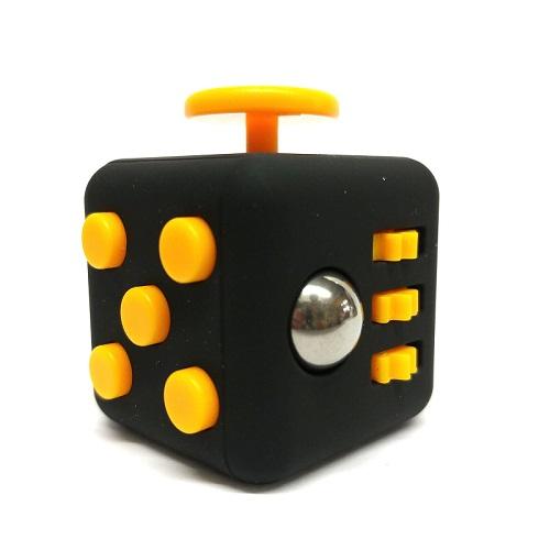 Купить Yellow Black, Игрушка-антистресс FIDGET CUBE Black Yellow,