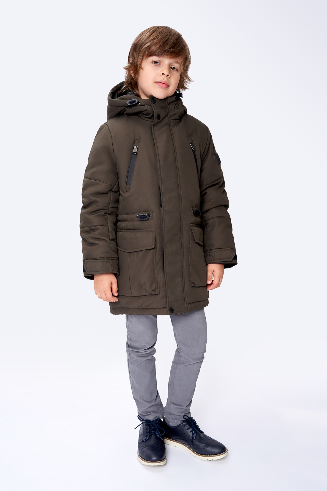 Купить Куртка для мальчика Baon BK539503 цв. зеленый р.140,