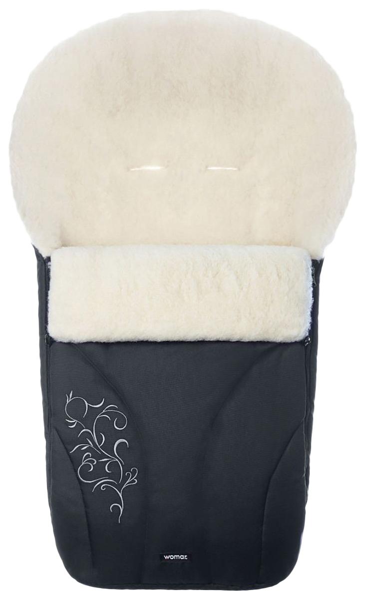 Купить Конверт-мешок для детской коляски Womar Snowflake №25 черный,