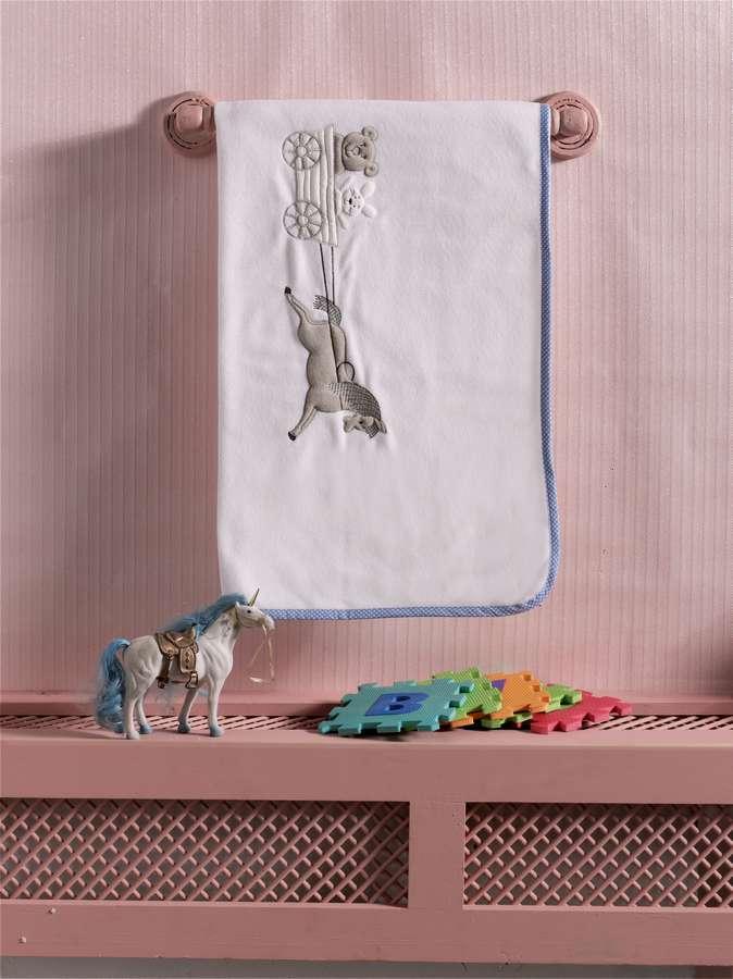 Купить Плед флисовый Kidboo Little Farmer blue, 80x120 см,