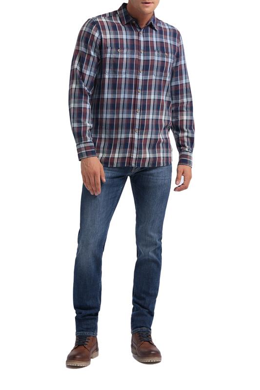 Рубашка мужская MUSTANG 1008163-11417 синяя M