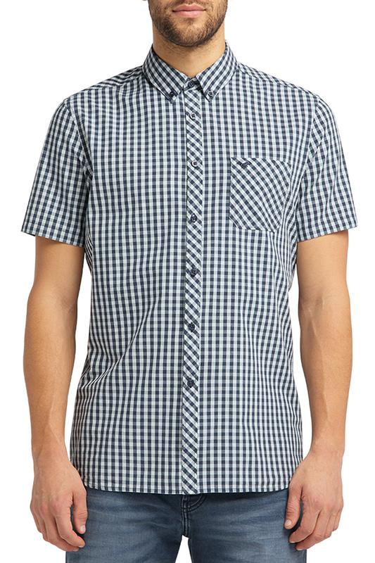 Рубашка мужская MUSTANG 1008996-11625 синяя L