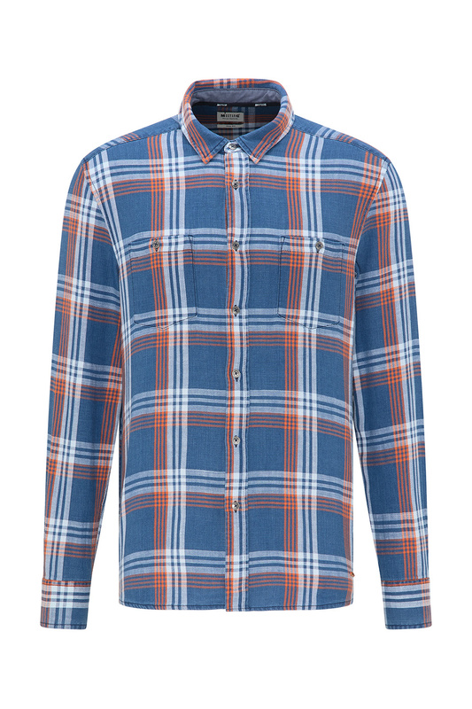 Рубашка мужская MUSTANG 1009004-11616 синяя S
