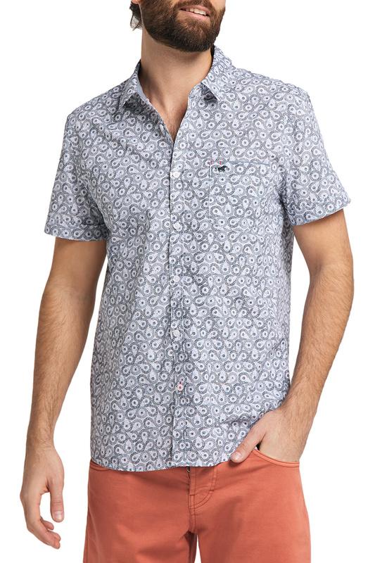 Рубашка мужская MUSTANG 1009554-11751 серая M