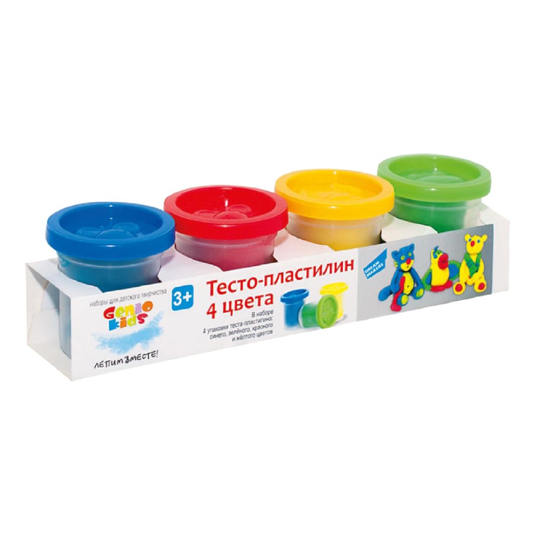 Купить Набор тесто пластилин 4 цвета Genio kids ta1008v,