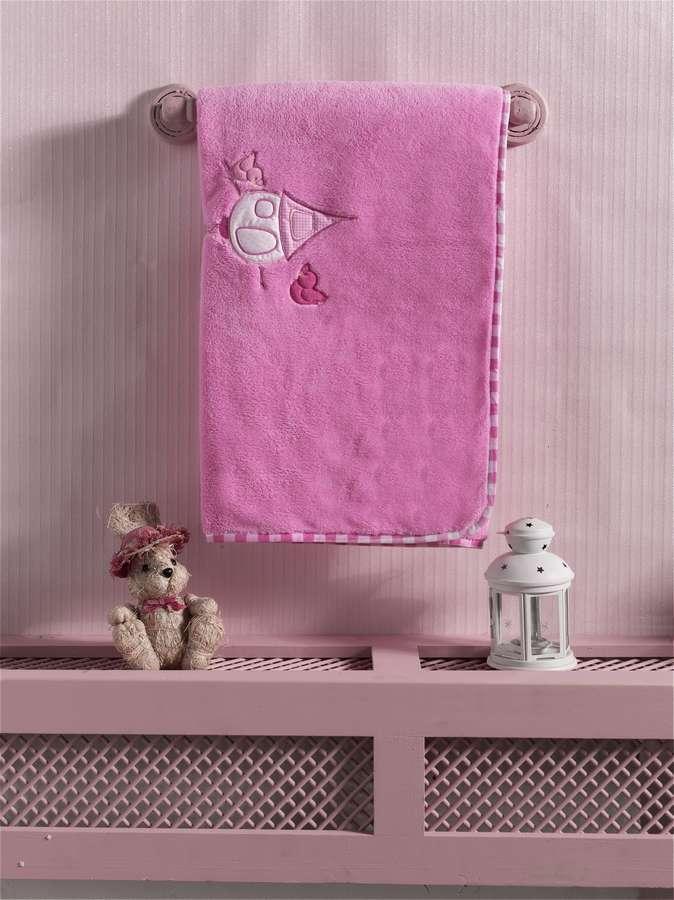 Купить Плед хлопок/велюр Kidboo Lovely Birds Pink, 80x90 см,