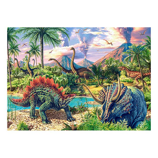 Динозавры, Пазл Castorland 120 деталей,  - купить со скидкой